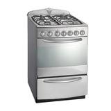Cocina Domec 56 Cm Gas Luz Encendido Timer Acero Beiro Hogar