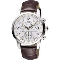 Relógio Tissot Prc200 Couro Marrom Original Frete Grátis.