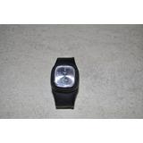 Reloj De Goma Steel Black Correa Regulable