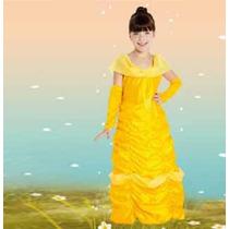 Disfraz Princesa Amarilla Para Niñas Original De Candela