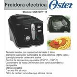 Freidora Eléctrica Oster