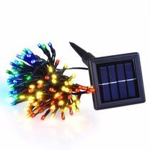 Serie De Navidad Solar Multicolor 100 Led 12 Metros