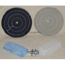 Kit 1 Polimento Lustro Aluminio-partes De Moto/carro,perfil