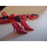 Sapato De Salto Sandália Para Barbie Modelo 7 Rosa Importado
