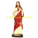 Estatua Jesus Cristo Sagrado Coração Imagem Santo 60cm Gesso