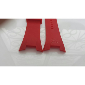 Pulseira P/ Relógio Armani Exchange Ax1040 Vermelha