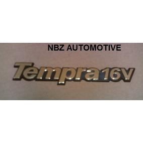 Emblema Tempra 16v Ouro/preto - Linha Fiat Antiga - Nbz