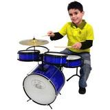 Bateria Acústica Infantil Semi Profi. Rock Baby Azul
