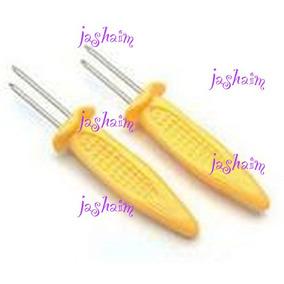 Tenedor Sostenedor Elote Mango Jicama *incluye 6 Acero Inox
