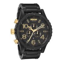 Relógio Nixon 51-30 Chrono Preto Dourado Original Fretgrátis