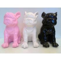 Perro Bulldog Frances De Ceramica