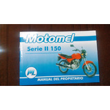 Manual De Uso Y Mantenimiento Original Motomel Cg 150 Cc