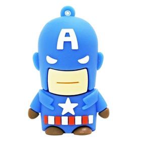 Homem Ferro 4gb Capitão America Pendrive Ironman Heroi Usb