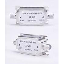 Amplificador De Sinal 20db P/satelete 950-2150 Mhz