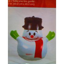 Figura Inflable De Mono De Nieve De Navidad