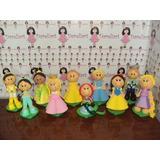 Turma Das Princesas Disney Em Eva 3d 35 Cm - Kit C/ 10