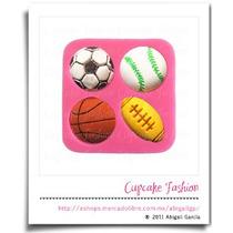 Molde Silicón Deportes Balones Fondant Pasta Flexible #1312