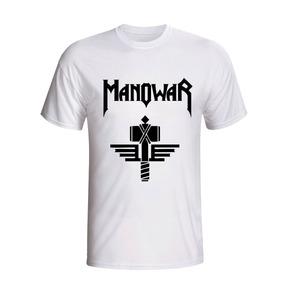 Camiseta Camisa Manowar Banda De Rock Heavy Metal