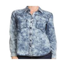 Camisas De Jeans Manga Larga Para Dama S,m,l Importadas Usa