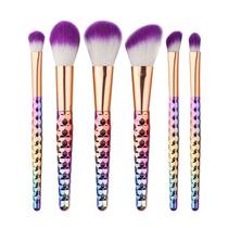 Set De 6 Brochas De Maquillaje Fantasía Arcoiris Envío Grtis