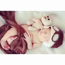 Newborn Touca Aviador + Amigurumi E Grátis O Wrap