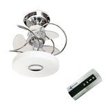 Ventilador Cromado Com Controle - Lustre Sala Quarto Cozinha