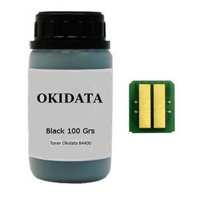 Kit Chip + Toner Para Recarga Cartucho Okidata B4400/b4600