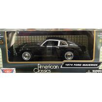 Ford Maverick 1974 Negro Motor Max 1/24