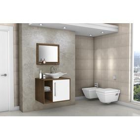 Gabinete Armário Para Banheiro Com Pia Baden Avelã_branco