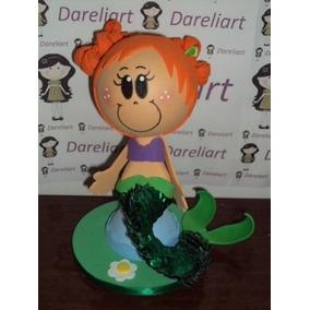 Boneca Ariel Baby Em Eva 3d 23 Cm - Princesas Baby