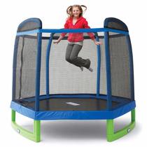 Cama Elastica Pula Pula Trampolim Infantil 2,23 M Rede Prote