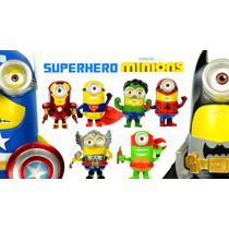 Minions Avengers Incluye Hombre Araña + Hulk Con Luz