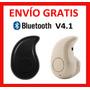 Envio Gratis 10 Pz. Mini Audifono Bluetooth Música Llamadas