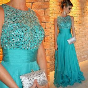 Vestido Azul Tiffany Importado Madrinha Casamento Formatura