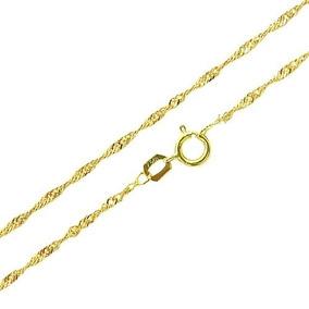 Corrente Colar Gargantilha Cordão Ouro 18k Singapura 45cm