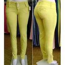 Calça Skinny Colorida Amarela Promoção Consciencia Jeans
