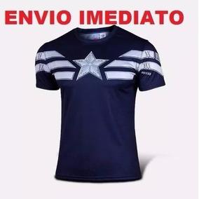 Camisetas Capitão América Pronta Entrega - Marvel Comics