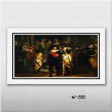 Quadro Rembrandt 70x40cm Pintores Famosos Decor Sala Quarto