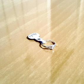 Anel Meio Dedo Em Prata 925 Com Zircônias