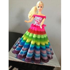 Molde Grande Gelatina Artistica Vestido Barbie Princesas