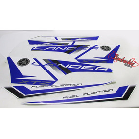 Kit Faixa Lander Xtz Azul 2014 2015 Adesivos Bombachinijetcr