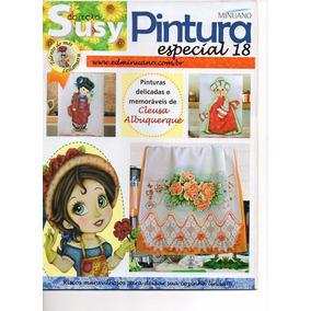 Kit 8 Revistas Pintura Em Tecido.