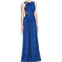 Vestido Renda Relevo Festa Madrinha Casamento Azul Royal