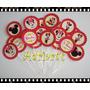 100 Mini Toppers P/ Docinhos - Minnie E Mickey - Adriarts