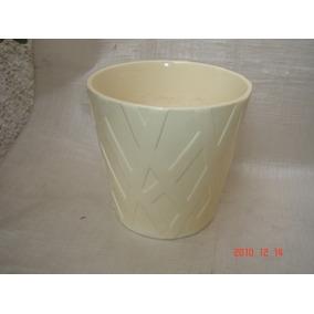 Antigo Cachepot Vaso Floreira Faiança Porcelana Portuguesa