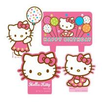 Hello Kitty Vela Fiesta Infantil Decoracion Pastel Recuerdos