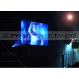Pantalla Proyeccion Gigante 4x2.25 Front + Back Hd Proyector