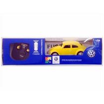 Carro Controle Remoto Volkswagen Fusca Amarelo 1:24 Cks Toys