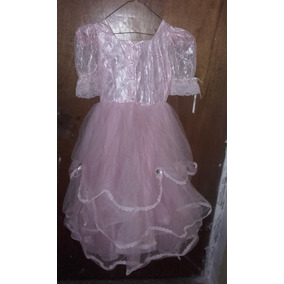 Disfraz Dama Antañona Rosado Para Niña