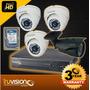 Cctv Kit Dvr 8 Canales + 4 Camaras De Seguridad Disco 500gb